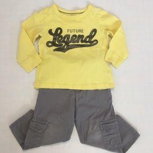 Bundle toddler boys long sleeves T-shirt & pants